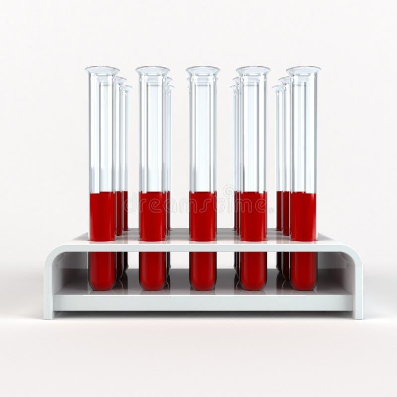 Medical test-tube with blood samples vector illustration