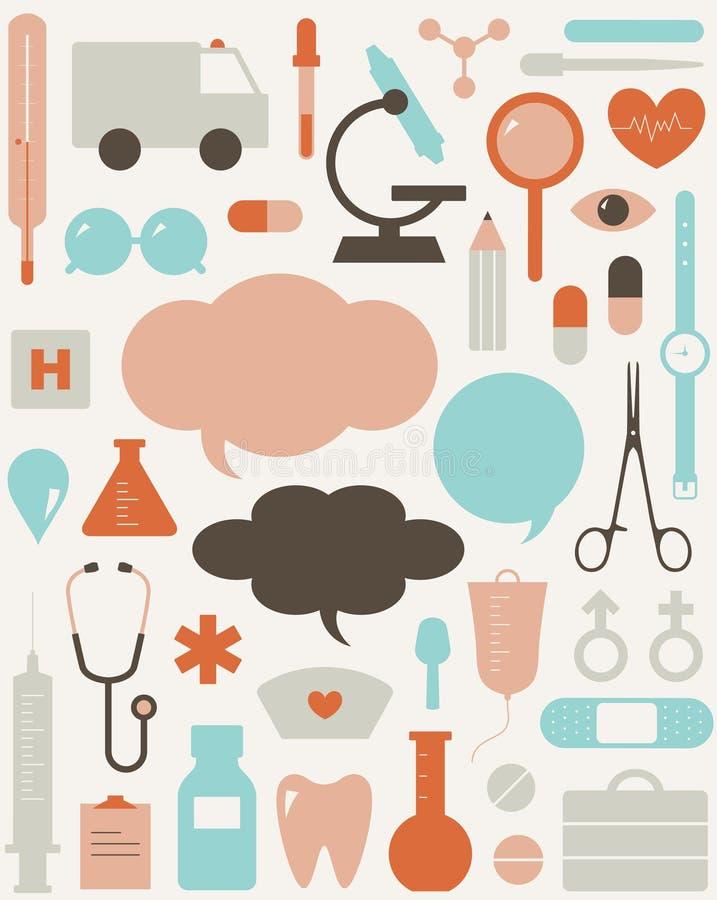 Free Medical Themed Icons And Warning-sig Stock Image - 19834321