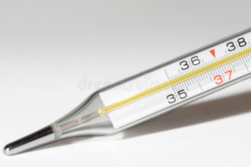 Medical thermometer for measuring body temperature royalty free stock image