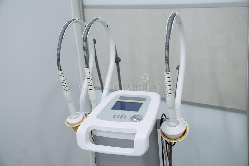 Medical tool, instrument, equipment. Radio frequency lifting. royalty free stock photo