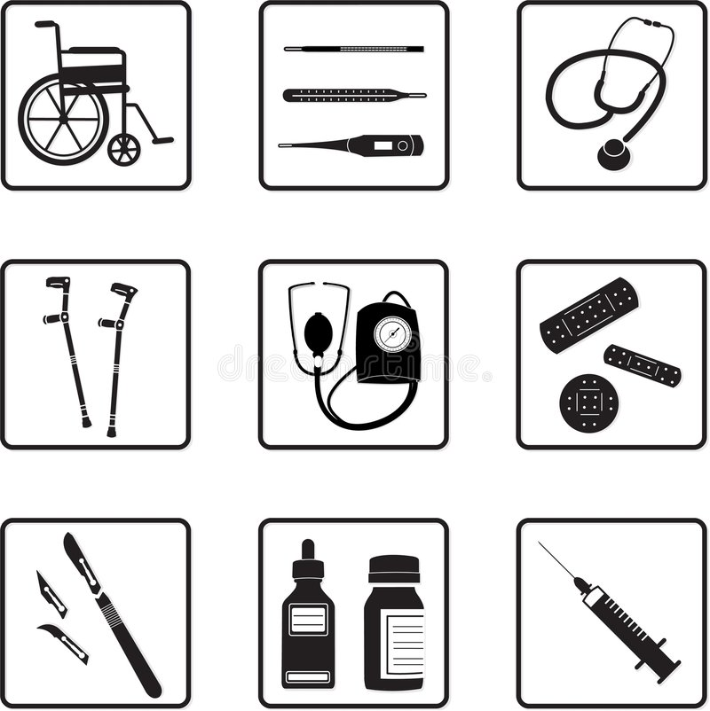 Free Medical Tools And Icons Stock Images - 4786474