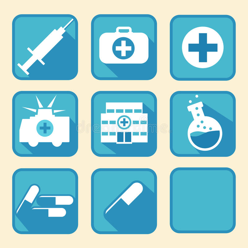 Medical tools. Nice medical icon tools for web and print royalty free illustration