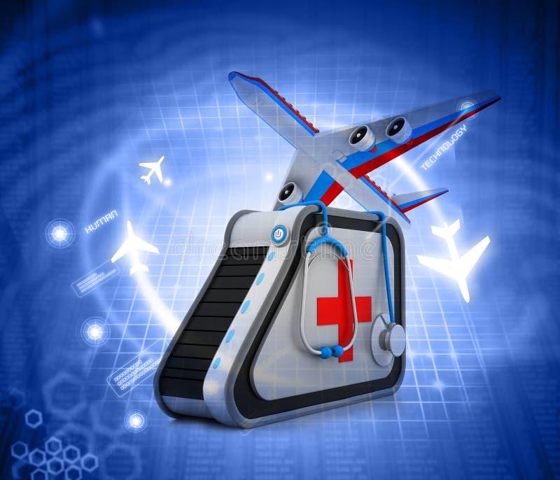 Medical tourism stock illustration