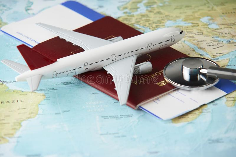 Medical travel concept royalty free stock photo