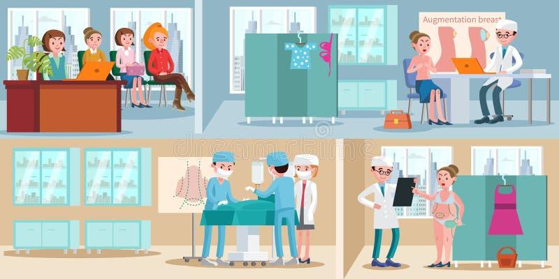 Medical Treatment Horizontal Banners stock illustration