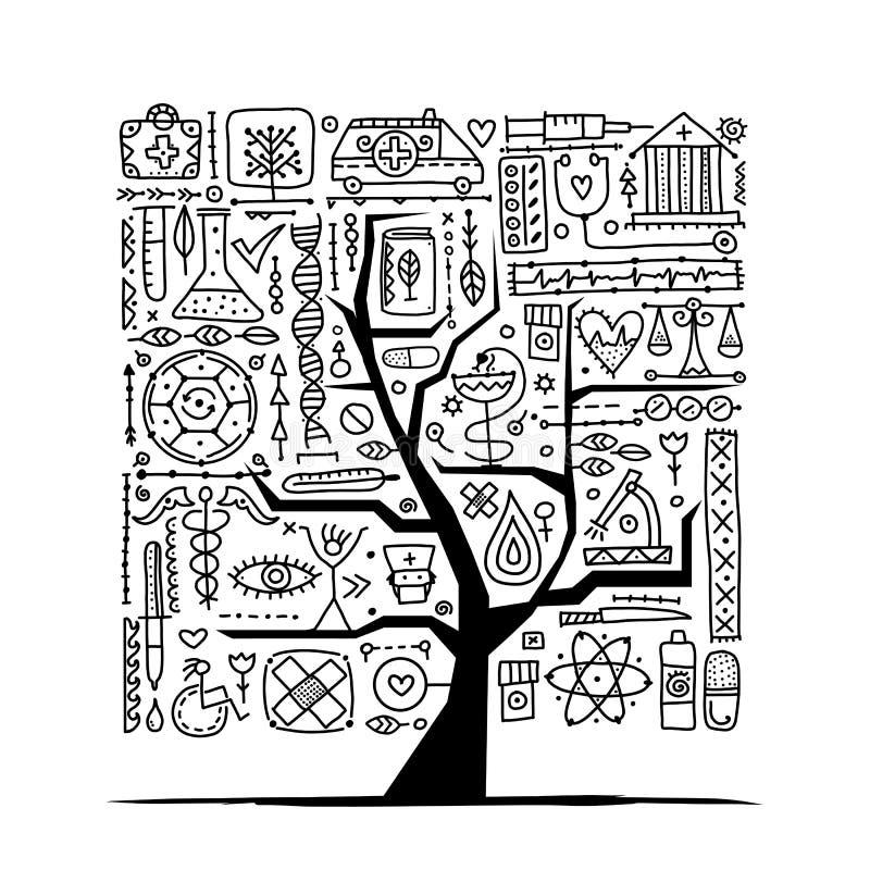 Medical tree concept for your design vector illustration