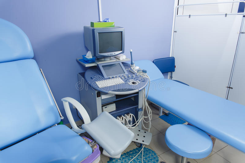 Medical ultrasound diagnostic machine. Ready to work royalty free stock images