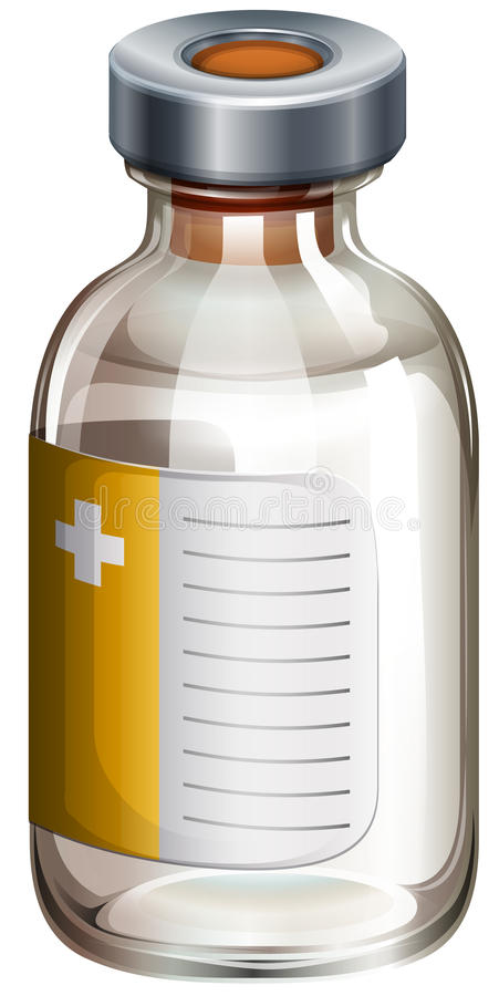 Download A medical vaccine stock vector. Illustration of prevent - 38588163