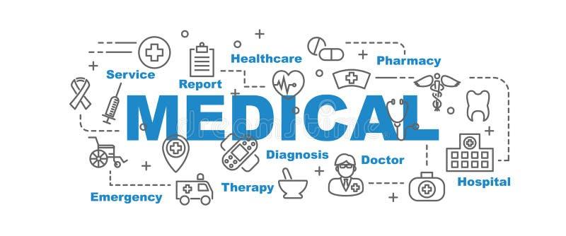 Medical vector banner royalty free illustration