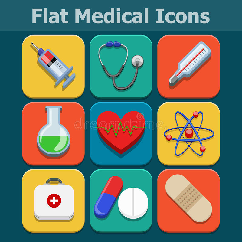 Download Medical Vector Flat Color Icons Set Stock Images - Image: 35376284