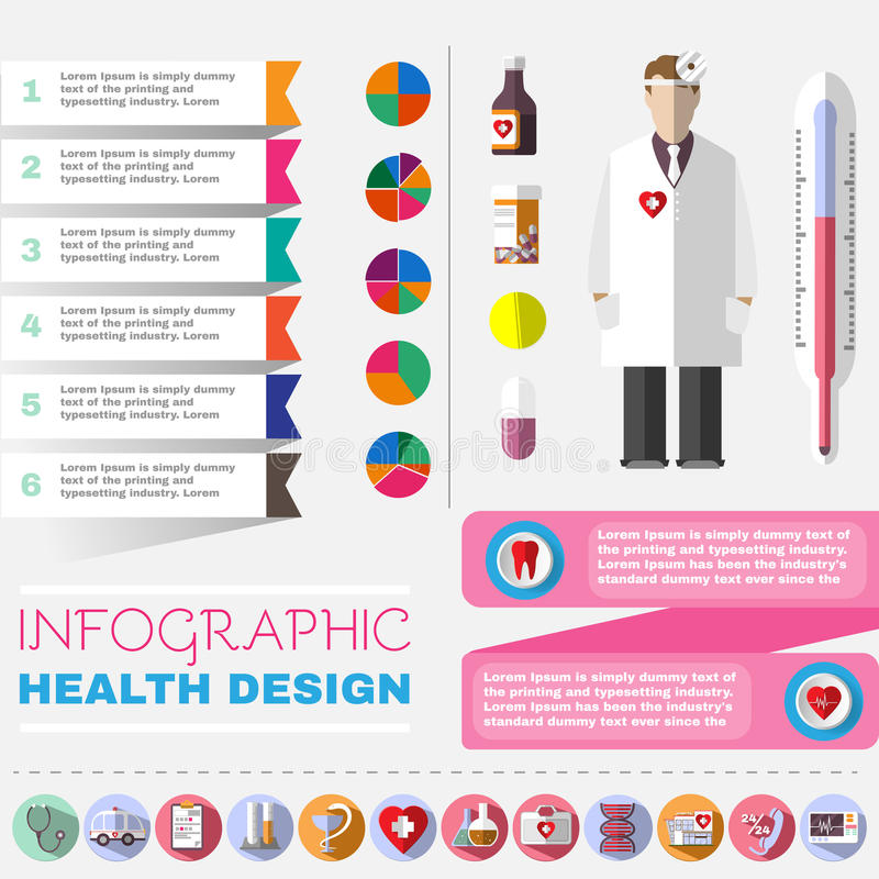 Medical vector icon set royalty free illustration