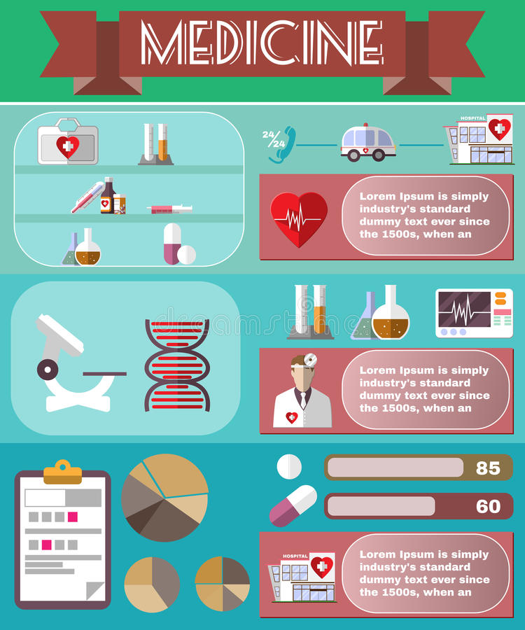 Medical Vector Infographic. stock illustration