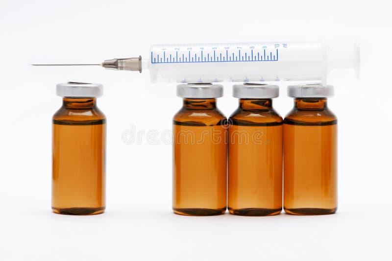 Medical vials and syringe royalty free stock photos
