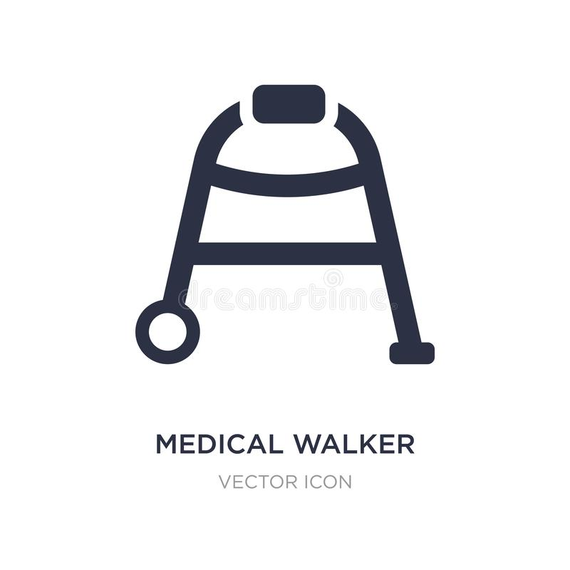 medical walker icon on white background. Simple element illustration from Health and medical concept vector illustration