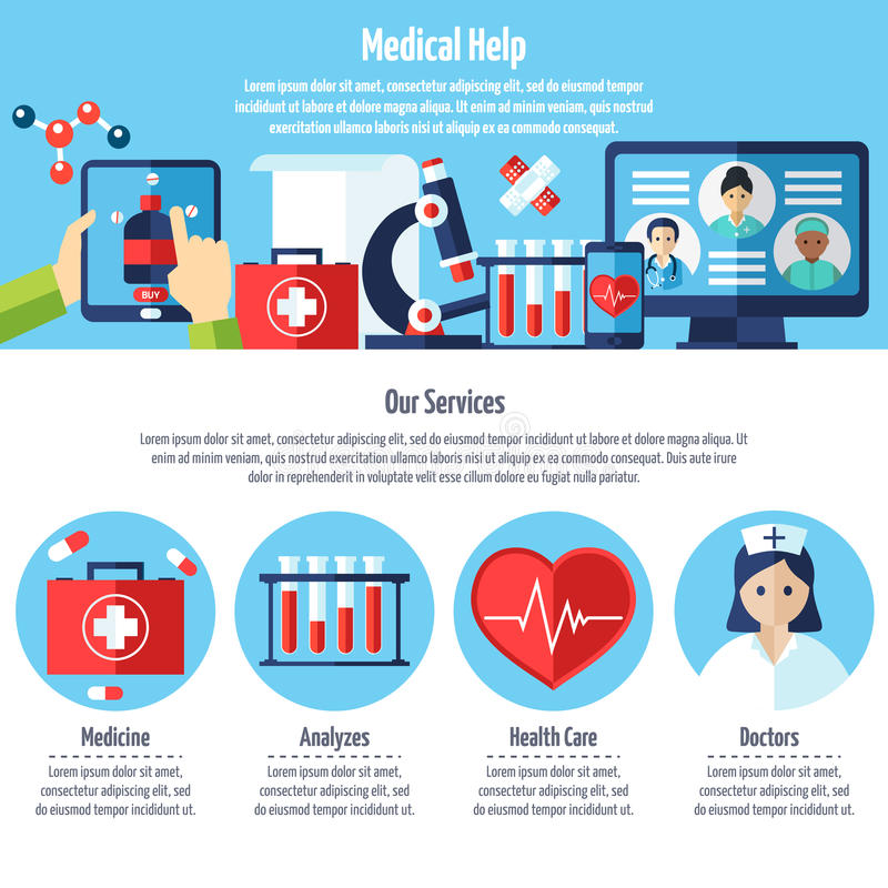 Medical Web Site stock illustration