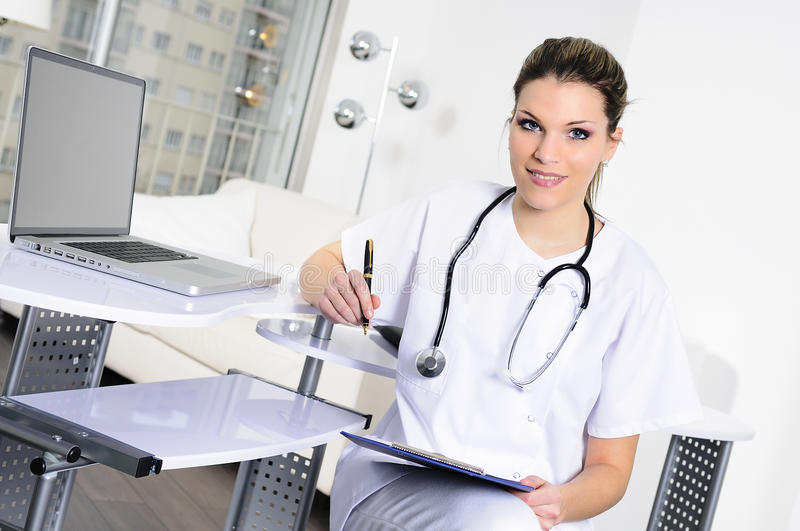 Medical woman royalty free stock photo