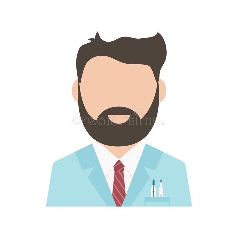 Medical worker, health professional avatar, medical staff, doctor icon isolated on white background. Vector. Illustration vector illustration