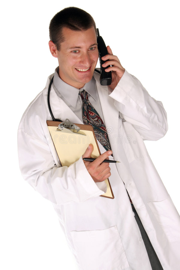 Free Medical Worker Helps You Out Over The Phone Stock Photos - 361023