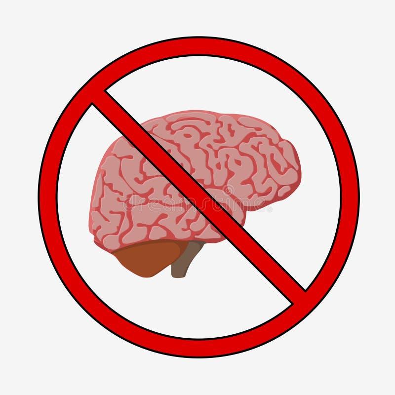 Medically exakt illustration av hjärnan stock illustrationer
