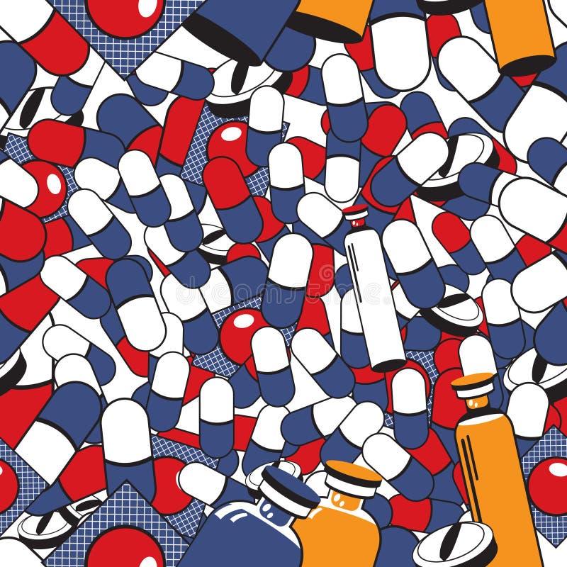 Medicals delle pillole senza cuciture illustrazione vettoriale