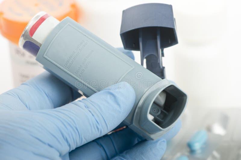 Medicamentação da asma fotos de stock royalty free