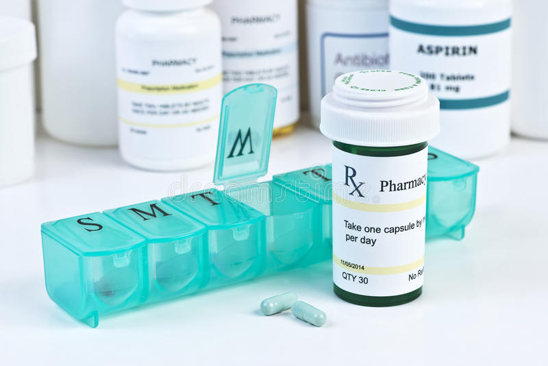 Medicamentação diária fotografia de stock royalty free