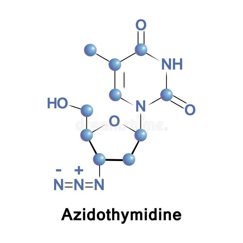 Medicamentação do antiretroviral do Azidothymidine ilustração stock