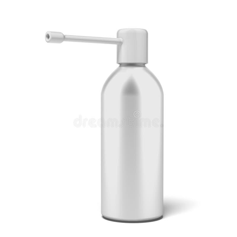 Medicamentação do pulverizador da garganta ilustração stock
