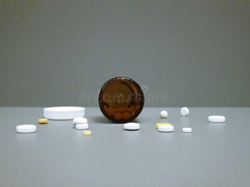 Medicamenta??o do close-up Close up dos comprimidos Drogas m?dicas fotografia de stock royalty free