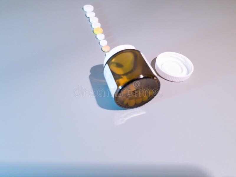 Medicamenta??o do close-up Close up dos comprimidos Drogas m?dicas foto de stock royalty free