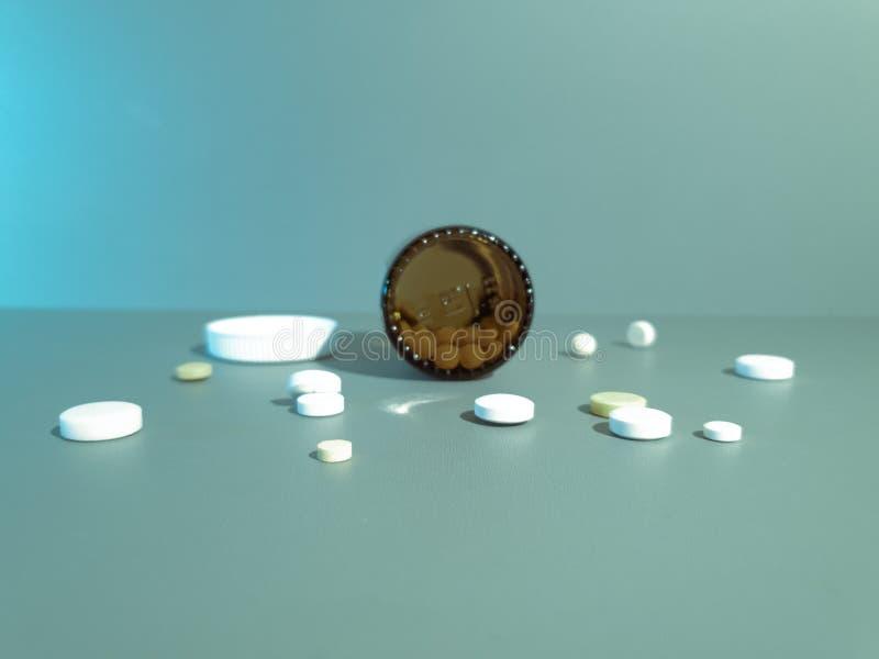 Medicamenta??o do close-up Close up dos comprimidos Drogas m?dicas fotografia de stock