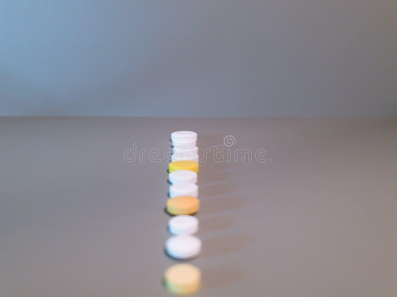 Medicamenta??o do close-up Close up dos comprimidos Drogas m?dicas imagens de stock royalty free