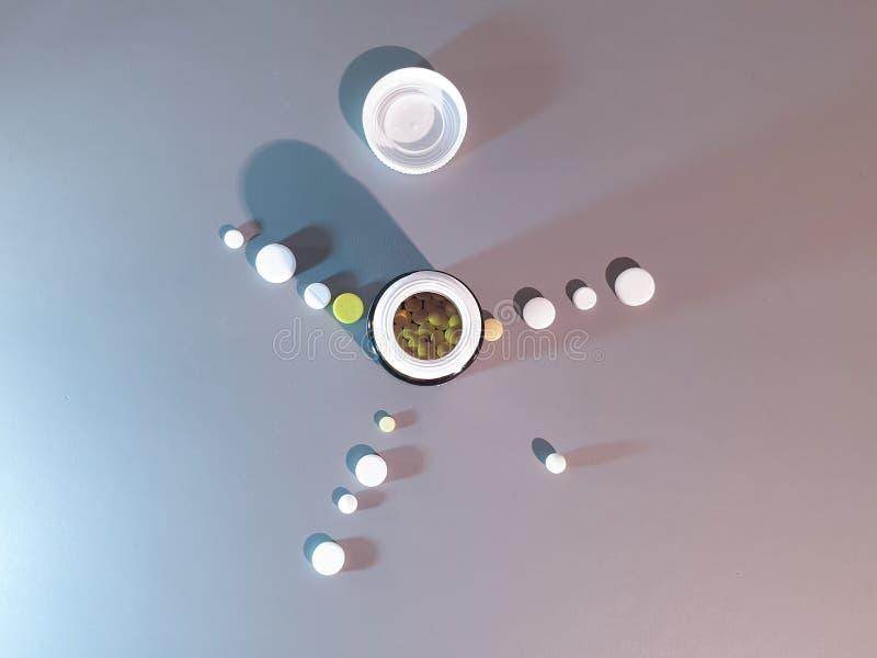 Medicamenta??o do close-up Close up dos comprimidos Drogas m?dicas fotos de stock royalty free