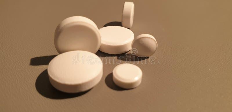 Medicamenta??o do close-up Close up dos comprimidos Drogas m?dicas imagem de stock royalty free