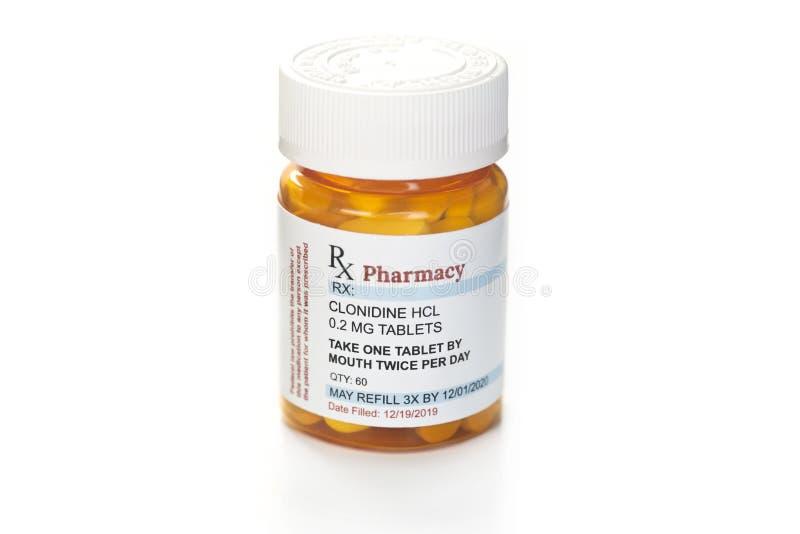 Medicamento de prescrição de clonidina imagens de stock