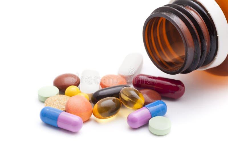 Medicamentos de venta com receita imagem de stock