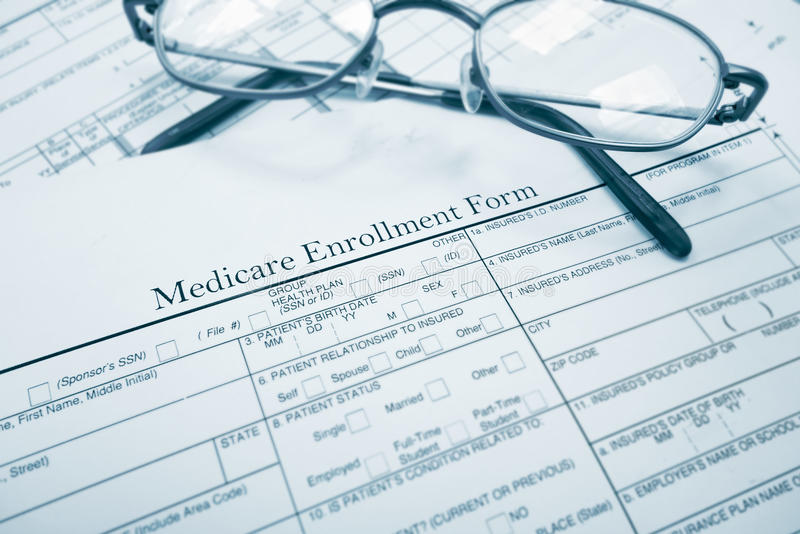 Medicare μορφή εγγραφής στοκ εικόνες