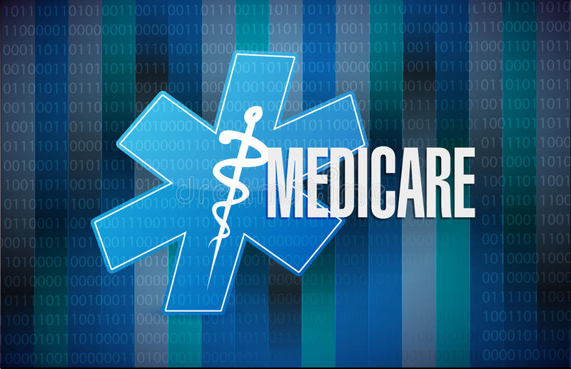 Medicare δυαδικό σχέδιο απεικόνισης έννοιας σημαδιών απεικόνιση αποθεμάτων