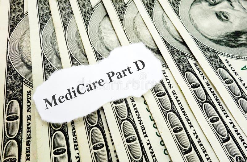 Medicare χρήματα Δ μερών στοκ εικόνες με δικαίωμα ελεύθερης χρήσης
