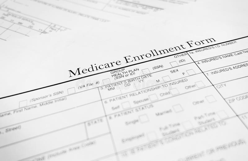 Medicare Form Stock Photo - Image: 40776612