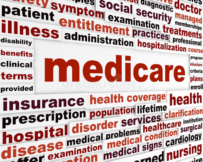 Medicare health care concept royalty free illustration