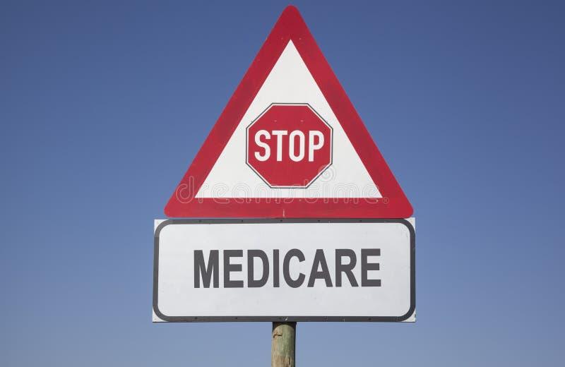 Medicare ostrzeżenie obraz royalty free