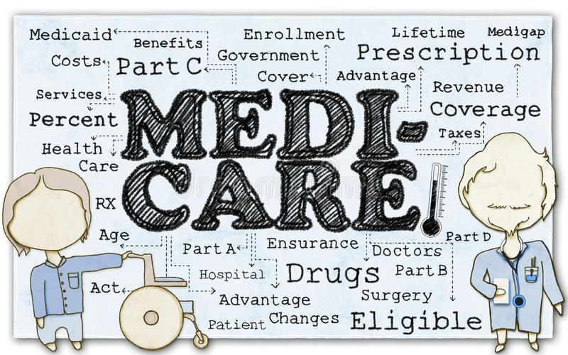 Medicare on Paper with Clipping Path vector illustration