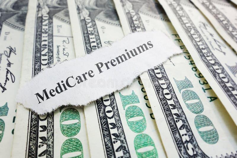 Medicare premiums headline royalty free stock image
