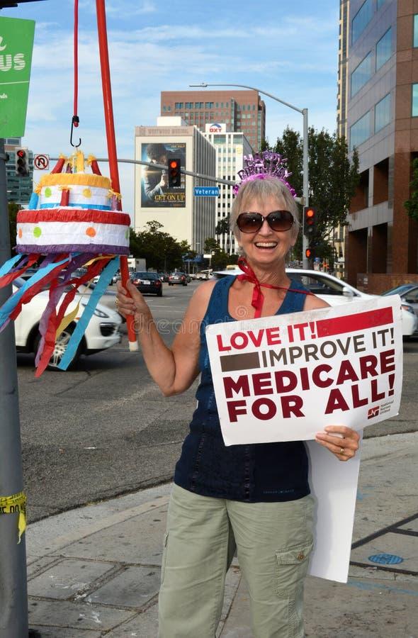 Medicare wiec obraz stock