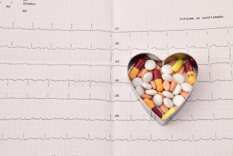 Medicated serce obrazy royalty free