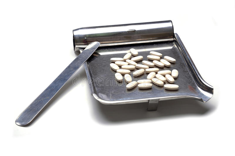 Medication counter tray royalty free stock image