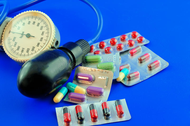 Medication for hypertension stock image