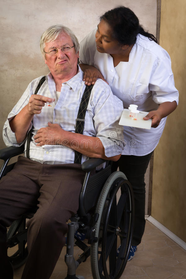 Medication in nursing home royalty free stock images
