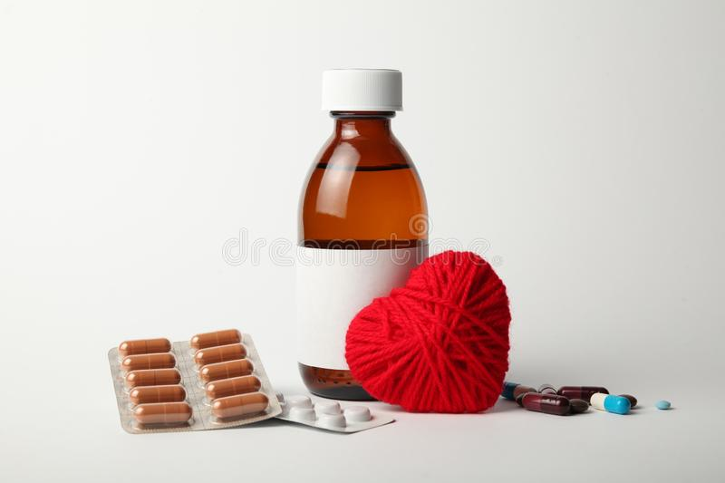 Medications for the heart, lowering blood pressure. Cardiovascular diseases stock image